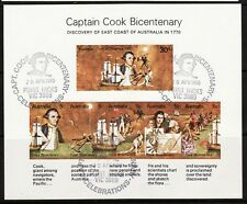 Australia Scotts #482a Capt Cook Bicentenary special cancels set of five sheets