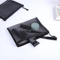 Travel Cosmetic Bag Zipper Transparent Net Toiletry Kits Storage Makeup Pouch
