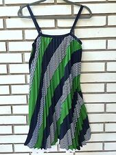 Thakoon for Target Baby Doll Dress Pleated Navy/Green/White Size 9