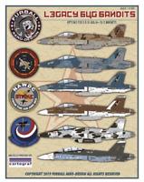 Furball Aero-Design 1/32 decals F/A-18A/A+/B/C Hornets Legacy Bug Bandits 32004