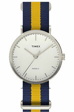 Timex TW2P90900, Men's Weekender Striped Fabric Watch, Indiglo, TW2P909009J