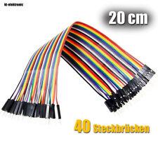 40 flexible Steckbrücken 20cm für Steckboard Drahtbrücken Breadboard Jumper