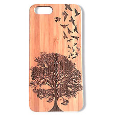 Birds in Flight Case made for iPhone 8 Plus phones Bamboo Wood Cover Tree Nature