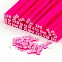 3x hecho a mano rosa pajarita Bastones - Arte Uñas (dnc45)