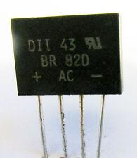 BR82D Bridge Rectifier 2 Amp 200 Volt Diodes Inc. (Pack of 3)