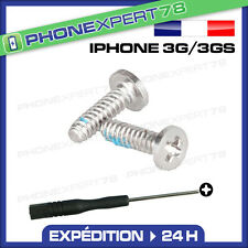 KIT DE 2 VIS ARRIERE POUR IPHONE 3G/3GS + TOURNEVIS CRUCIFORME