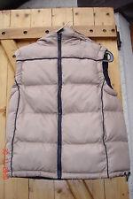 manteau doudoune beige sans manche avec capuche amovible T 36 JENNYFER