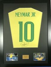 Signed Neymar Brazil Shirt In Large Professional Frame
