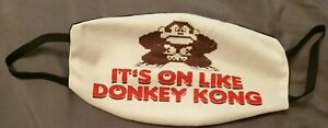 Donkey Kong Reusable Face Mask Covering Washable Breathable Gamer Facemask