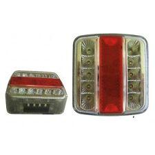 Feu 5 fonctions led avec eclairage de plaque droit ou gauche remorque - caravane