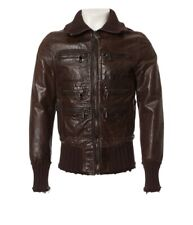Dolce&Gabbana brown real calf leather jacket used look - 50 L - RRP 3849,-€