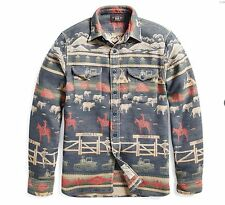 RRL Double RL Ralph Lauren FALL 2017 Ranch Jacquard Overshirt Size XL (sold out)
