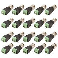 20 pcs Coax CAT5 To Camera CCTV BNC Video Balun Connectors Male New AU
