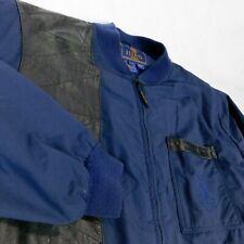 Beretta Men Blue Black Shooting Jacket Coat Leather Trim Hunting Sz XL