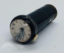 Dunhill Antique Art Deco Brass & Enamel Lipstick Tube Travel Watch