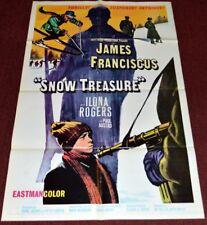 Marie McSwigan's SNOW TREASURE 1968 ORIGINAL 27x41 MOVIE POSTER! WW2 KIDS ACTION