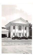 D53/ Paw Paw Michigan Mi RPPC Postcard County Court House c40s Village Hall  15
