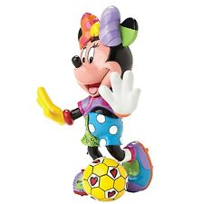 Disney Britto Showcase Minnie Mouse Football Resin Figurine Hand Painted Gift