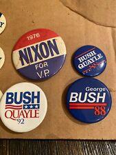 Bush Quayle 88 ,92 & GEORGE Bush 88 Pinback Buttons