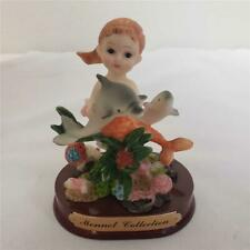 "= Monnet Collection Collectible Mermaid Statue With Dolphins 4-1/2"" Tall"