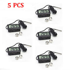 5pcs Mini Digital LCD Indoor Temperature Meter Thermometer Hygrometer+Battery XG