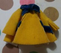 UNEEDA TINY TEENS DOLL VACATION TIME YELLOW & BLUE DRESS SUIT COAT VINTAGE 1967