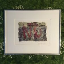 """1985 Mark Siprut Collage """"It's Obvious"""" Signed Original in a Metal Frame"""