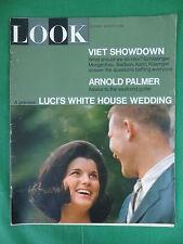 Vintage LOOK Magazine Aug. 9, 1966 LUCI JOHNSON WEDDING Issue Arnold Palmer Golf