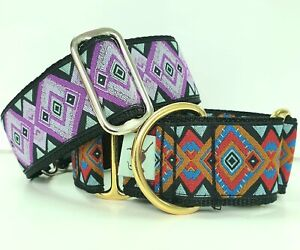 Greyhound / whippet / lurcher/ saluki  Martingale Dog Collar Aztec