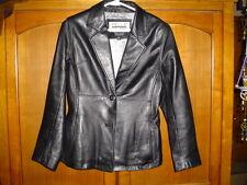 Women's Black Leather Jacket  - Size S - by Pelle Studio - Wilsons