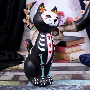 Nemesis Now  SUGAR PUSS  Day Of The Dead Cat Ornament  Gothic Witchcraft Vamp