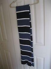 GAP Striped Pattern Reversible Winter Warm Knit Scarf Blue/Black/White NWOT's