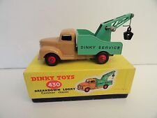 DINKY TOYS #430 BREAKDOWN LORRY Commer Chassis Red Wheels In Box