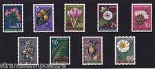 Yugoslavia - 1957 Flowers - U/M - SG 844-852
