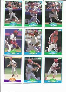 ST LOUIS CARDINALS x 24 SCORE 1989 MLB Baseball Trading cards