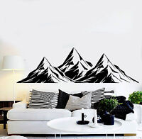 Vinyl Wall Decal Mountains Room Decoration Home Art Stickers (ig3679)