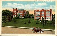 Vtg 1920s Marshall College Old Cars Huntington West Virginia WV Postcard