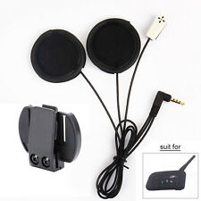 Motorcycle Helmet Headset Mic Speaker Bluetooth Interphone Intercom Clamp BT NEW