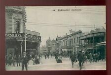 Australia Adelaide Exchange Hotel busy street scene 1900s Ppc