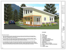 Unique Tiny House Building Plan*,only 256 sq.ft.(16'x16') 12 pages