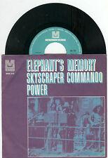 """Elephant 's memory-scyscraper commando power"""" 7"""" 1971 Archive plaque-NM"""