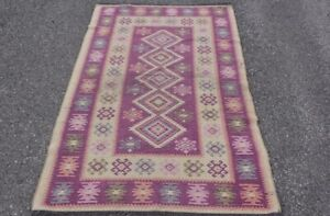Stunning Turkish Brand New Kilim 169 X 106 cm Persian Tribal Wool Kelim Area Rug