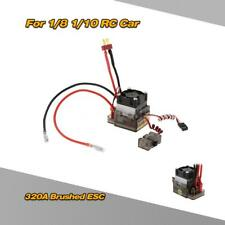 320A 2~4S LiPo Battery Brushed ESC with 5.6V/2A BEC for 1/8 1/10 Truck Q6N5