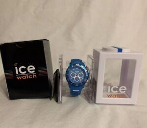 ICE-Watch Ice Aqua Chronograph Malibu Watch 012 736 Large 44 mm Brand New In Box