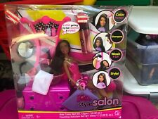 Barbie Style Salon Hair Color Set Doll Nikki AA African American Mattel 2008