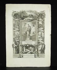 Engraving Spain c1800 Francisco JORDAN Vida Activa / contemplativa Virgin Maria