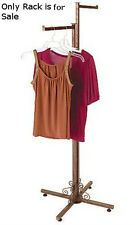 2 Way Clothing Rack in Cobblestone Finish 48-72H Inches with Straight Arms