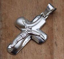 Vintage Pendant Christian Cross Jesus Jewellery Silver Religious Crucifix Jewelr