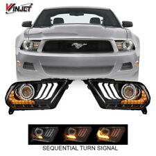 10-12 S197 Mustang S550 2018+ Style LED DRL / Sequential Signal / Headlight