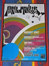 ARCTIC MONKEYS - 2007 AUSTRALIA TOUR -  LAMINATED PROMO TOUR POSTER